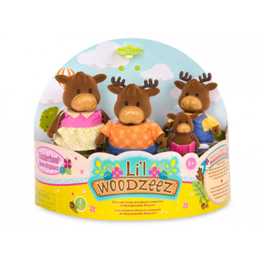 Li'l Woodzeez The VanderhoofTM Moose Family with storybook