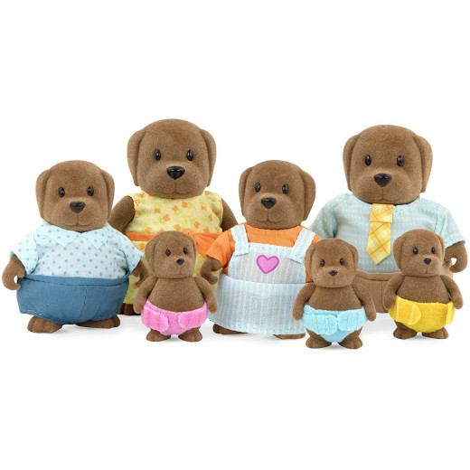 Li'l Woodzeez Large Grandparents Wagadoodle Dog Family – 7pc