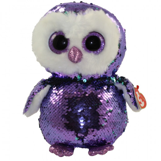 Ty Flippables Sequin Plush 25 Cm – Moonlight the Owl, Mint