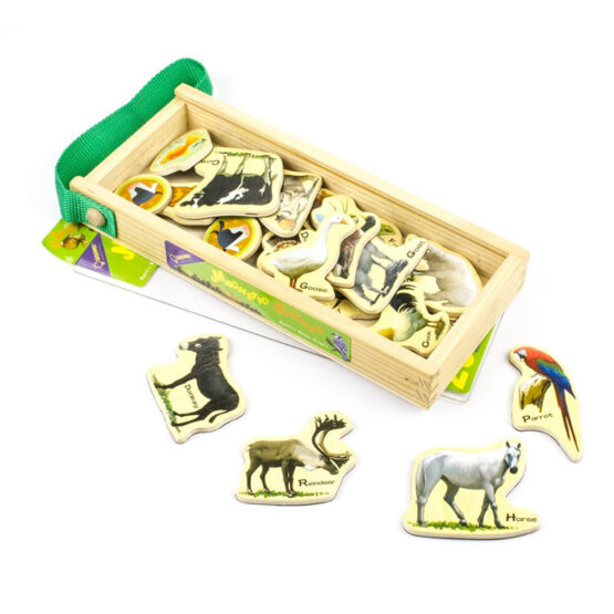 Wooden Magnets Animal Farm 23 Pieces
