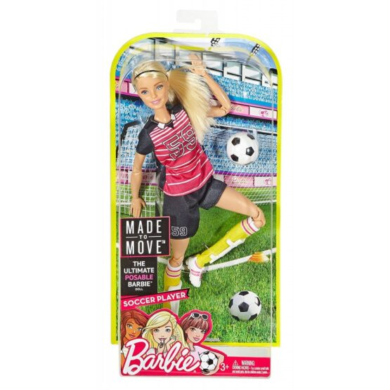 Barbie Made to Move Soccer Player Doll | Blonde