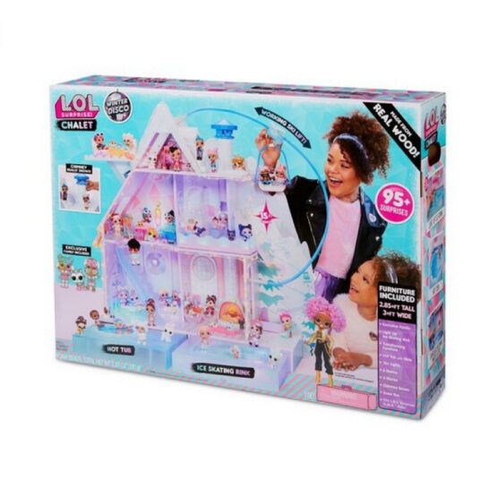 LOL Surprise! Winter Disco Chalet Doll House with 95+ Surprises