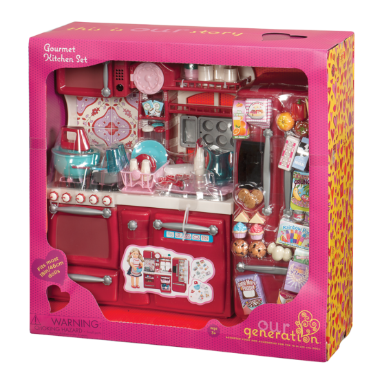 OG Gourmet Kitchen Set | Red | For Dolls