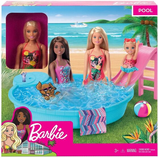 Barbie Doll And Pool Playset GHL91