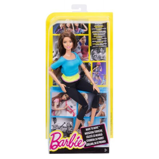 Barbie Made to Move Doll | Light Blue Top