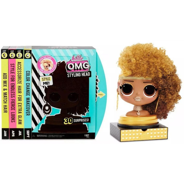 L.O.L. Surprise! O.M.G. Styling Head Royal Bee W | Stick-On Hair