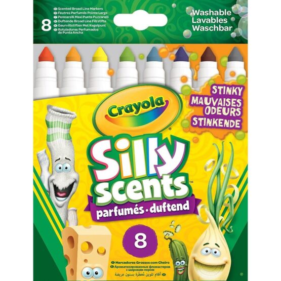 Crayola Silly Scents Broad line Stinky Markers | 8 Colours