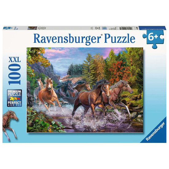 Ravensburger | Rushing River Horses Puzzle 100 pieces