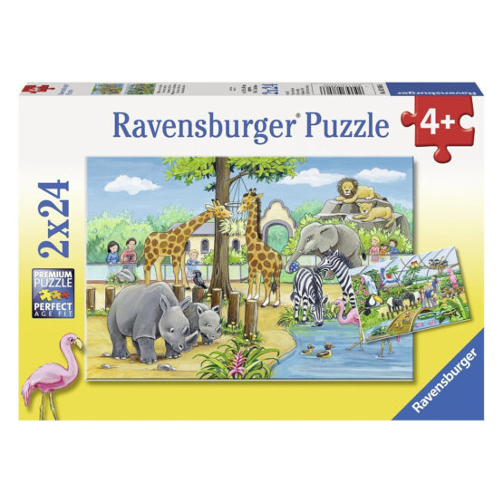 Ravensburger | Welcome to the Zoo Puzzle 2×24 pieces