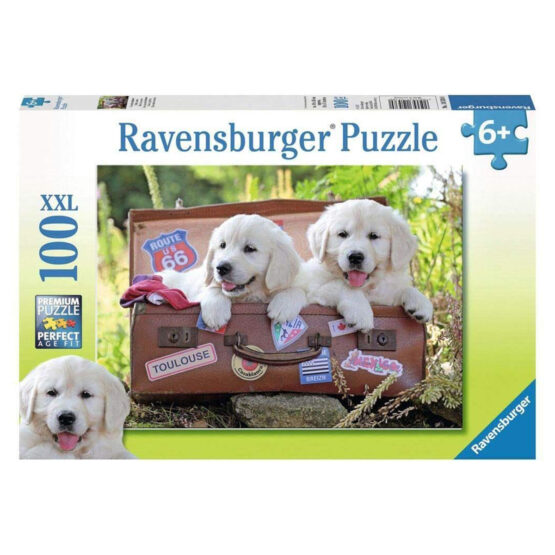 Ravensburger | Travelling Puppies 100 pcs XXL  Jigsaw Puzzle