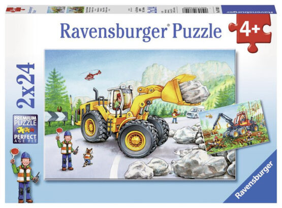 Ravensburger | Diggers at Work Puzzle 2×24 pieces