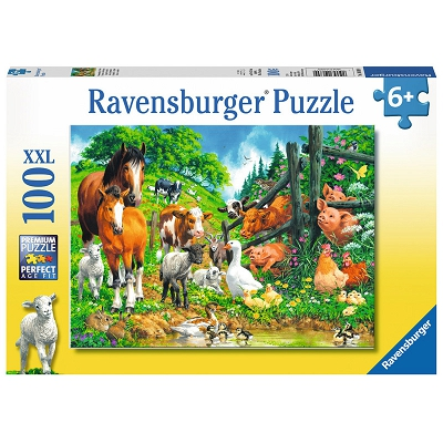 Ravensburger | Animal Get Together Puzzle XXL100 pieces