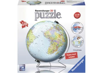 Ravensburger | World Globe 3D Puzzle ball 540 pieces