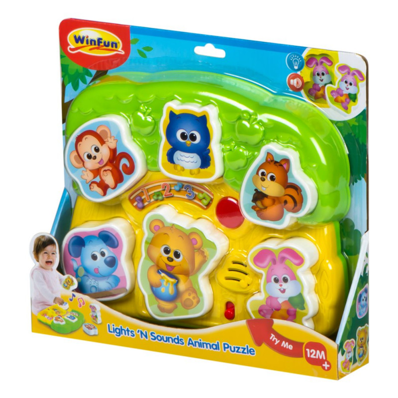 Winfun Lights'n Sounds Animal Puzzle