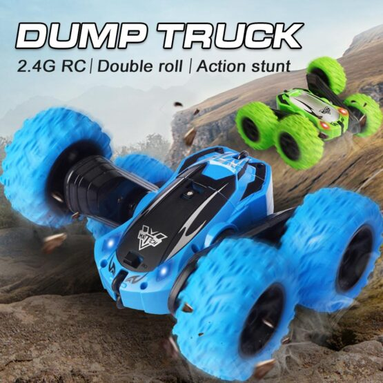 1:24 Double Side Dump Truck Stunt Car 2.4G | Color May Vary