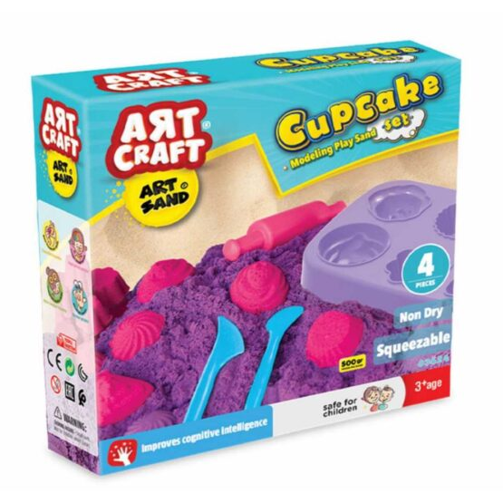 Art Craft Kinetic Sand 500 g | Molds for Cup Cakes
