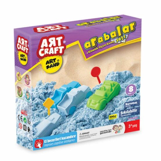 Art Craft Kinetic Sand 500 g 4 pcs | Car Molds & Road