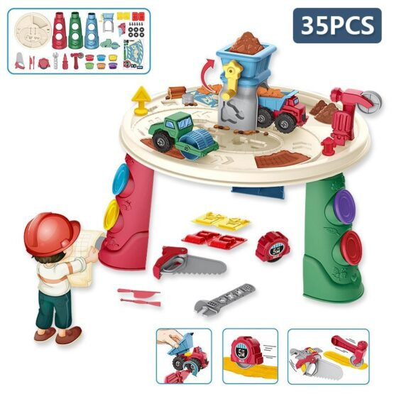 Engineer Dough Toy Table   35 pcs