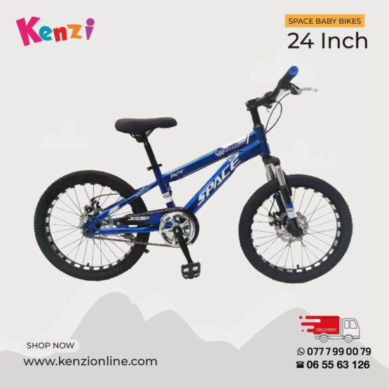 Space Baby 24 Inch Blue Bike   12 yrs and older