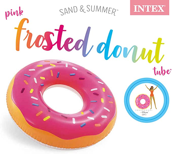 Intex 56256NP Pink Frosted Donut Tube
