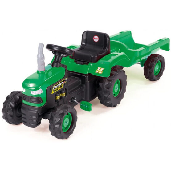 Dolu Tractor Pedal Operated With Trailer | Green