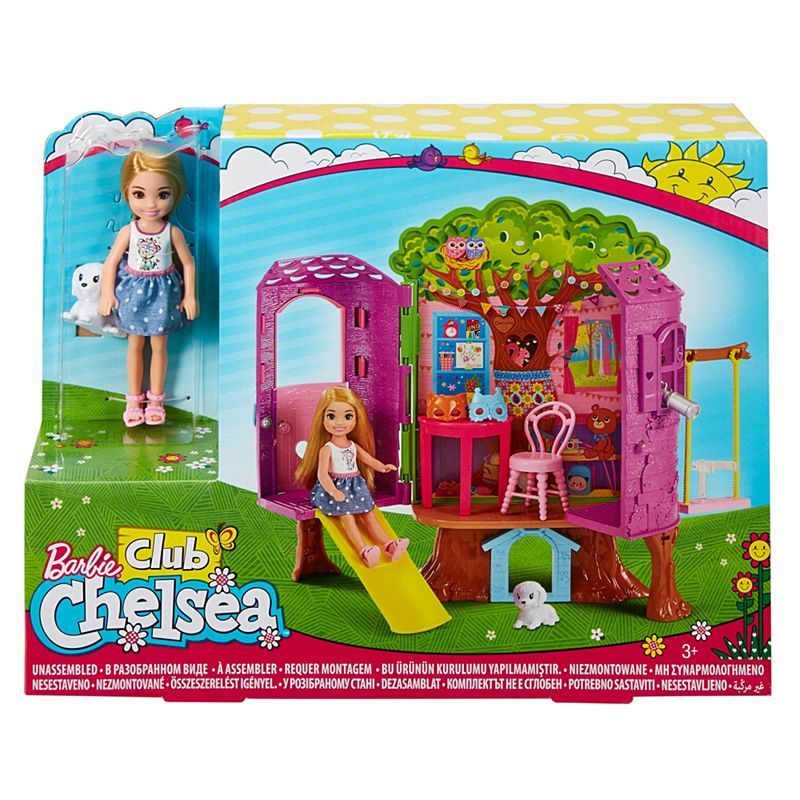 Barbie Chelsea Doll And Treehouse Playset FPF83