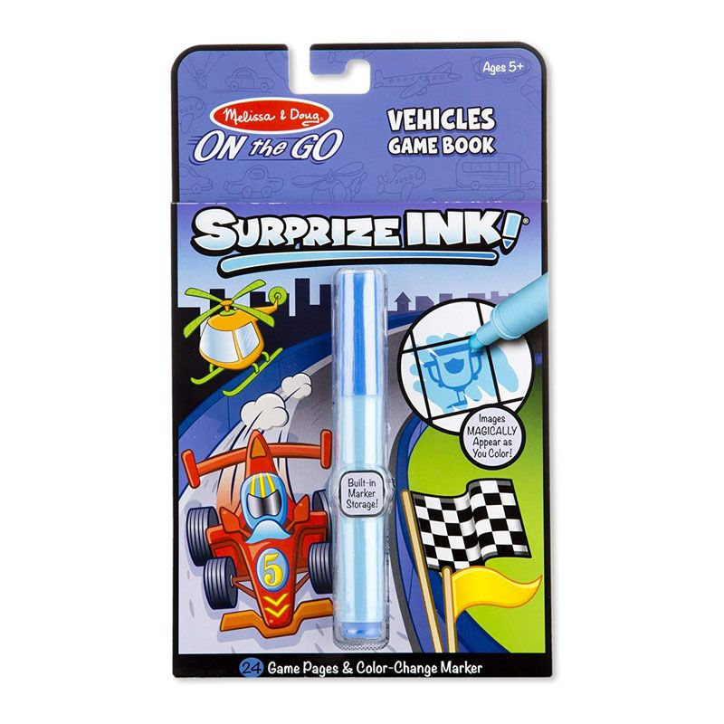 Melissa & Dough Surprize Ink! Vehicles – ON the GO Travel Activity Book