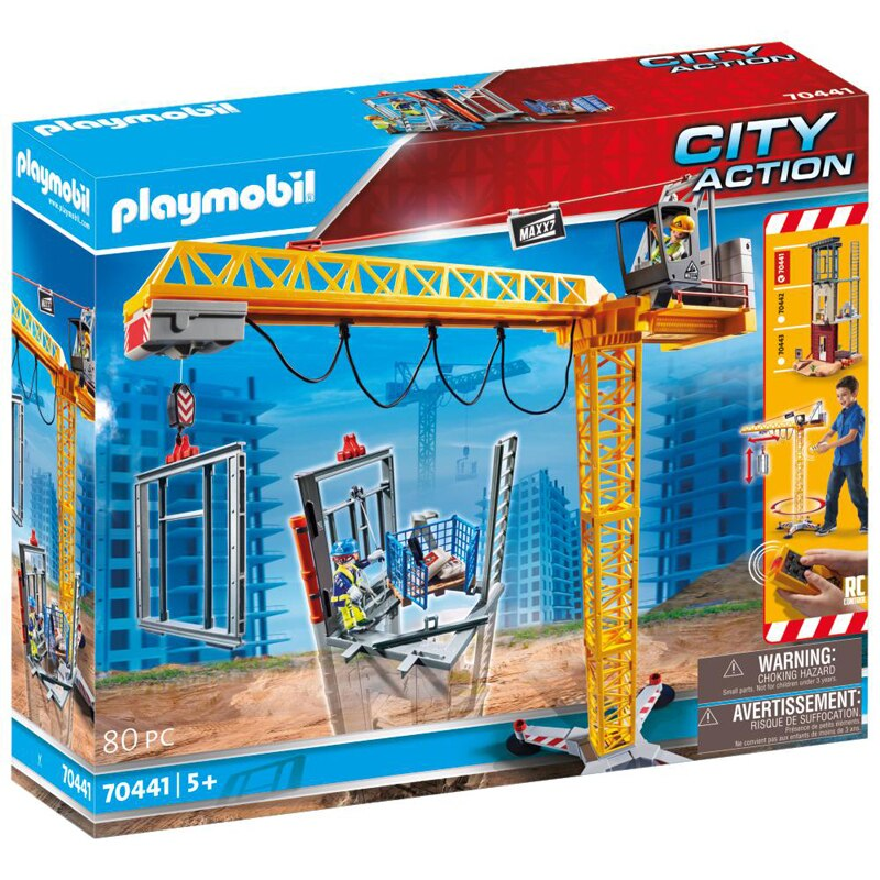 Playmobil City Action Construction Crane With Remote Control