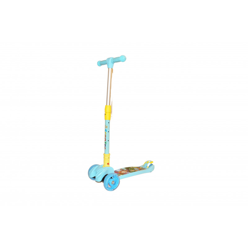 Scooter  2 Front Wheels and 1 Back Wheel | Sky Blue – Yellow