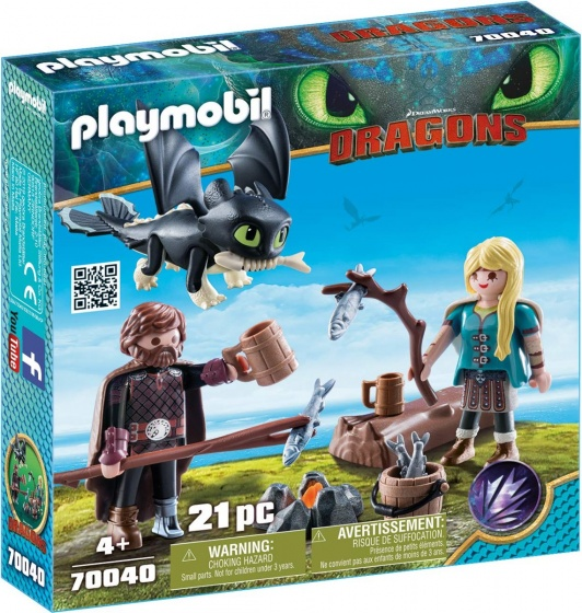 Playmobil Dragons Hiccup Astrid Playset Building Set