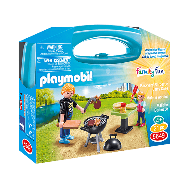Playmobil Backyard Barbecue Small 21 Pcs Carry Case