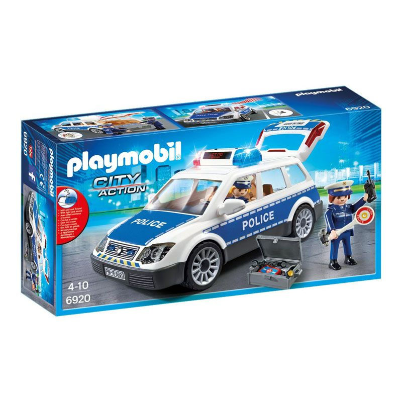 Playmobil Squad Car With Lights And Sound For Children