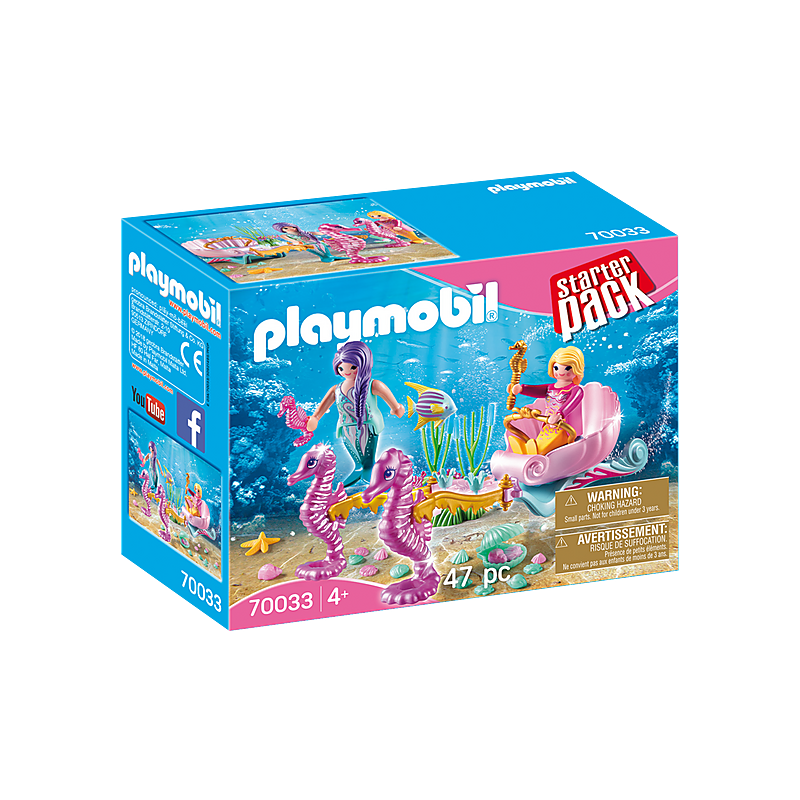Playmobil Starterpack Seahorse Carriage 47 Pcs For Children