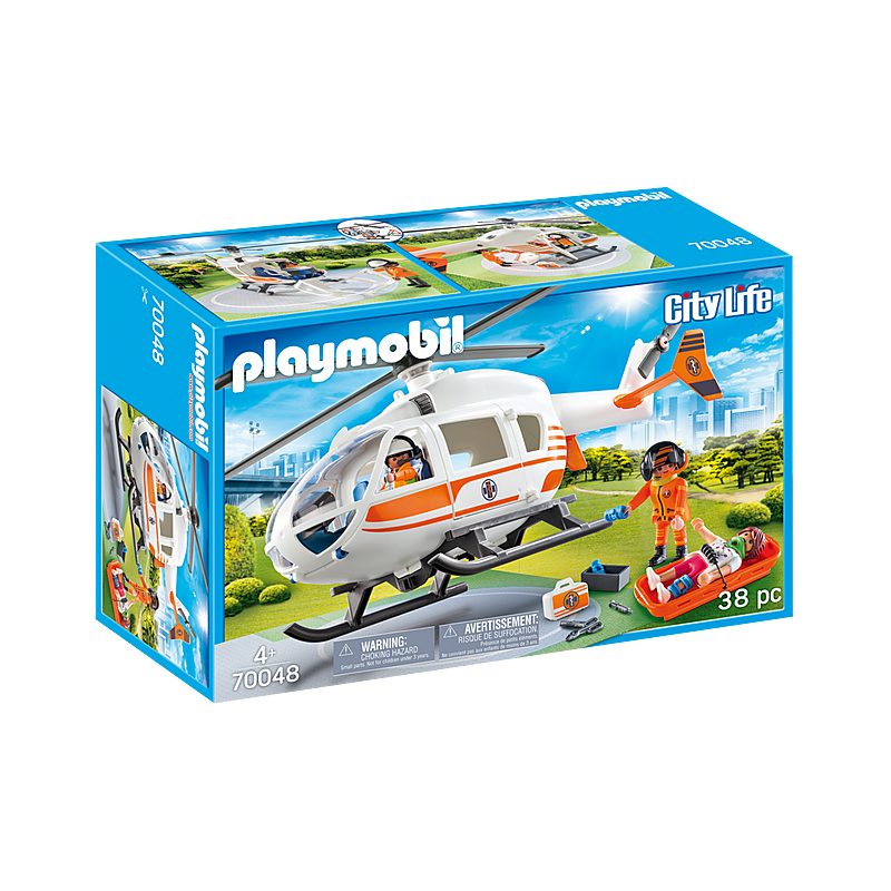 Playmobil Rescue Helicopter 38 Pcs For Children
