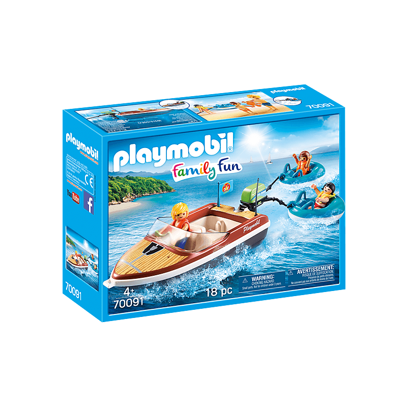 Playmobil – Speedboat with Tube Riders