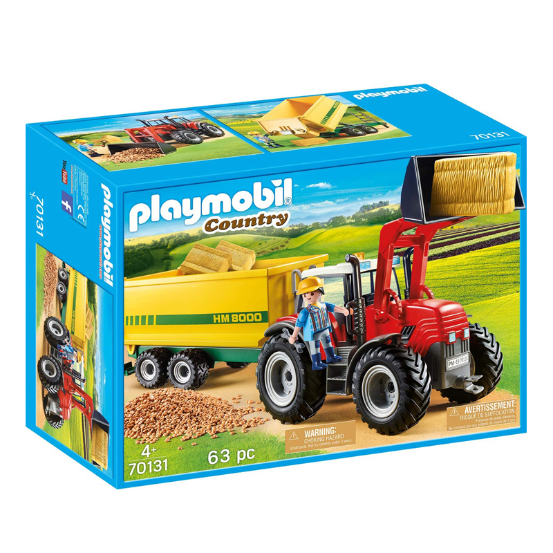 Playmobil Tractor With Feed Trailer 63 Pcs For Children