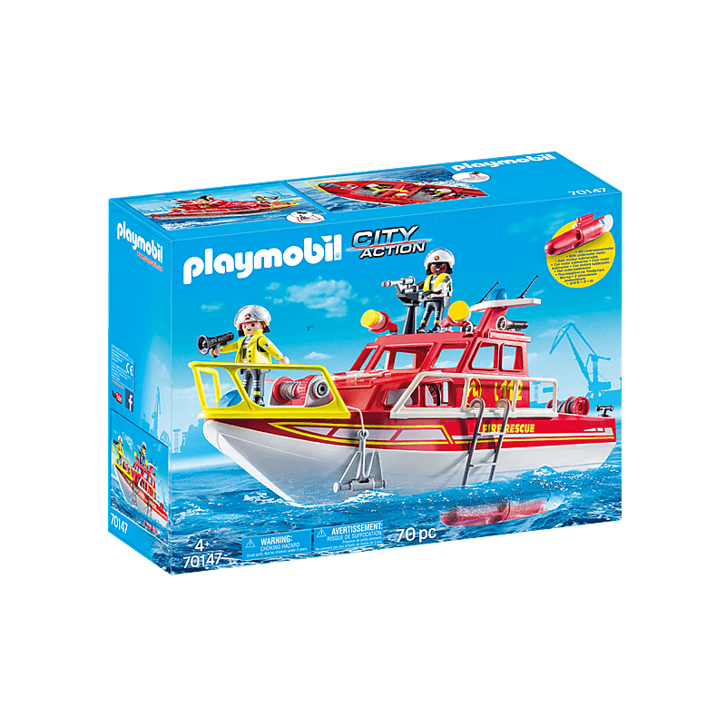 Playmobil Fire Rescue Boat 69 Pcs For Children