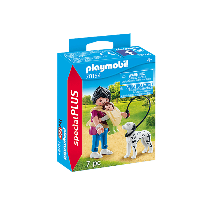 Playmobil Mother With Baby And Dog 7 Pcs For Children