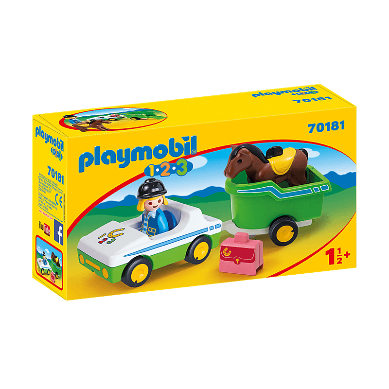 Playmobil Car With Horse Trailer For Children