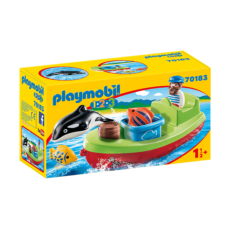 Playmobil Fisherman With Boat For Children
