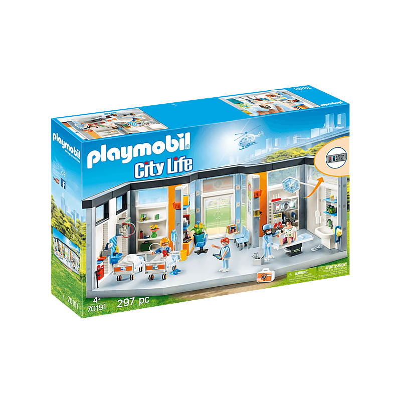 Playmobil Furnished Hospital Wing 297 Pcs For Children
