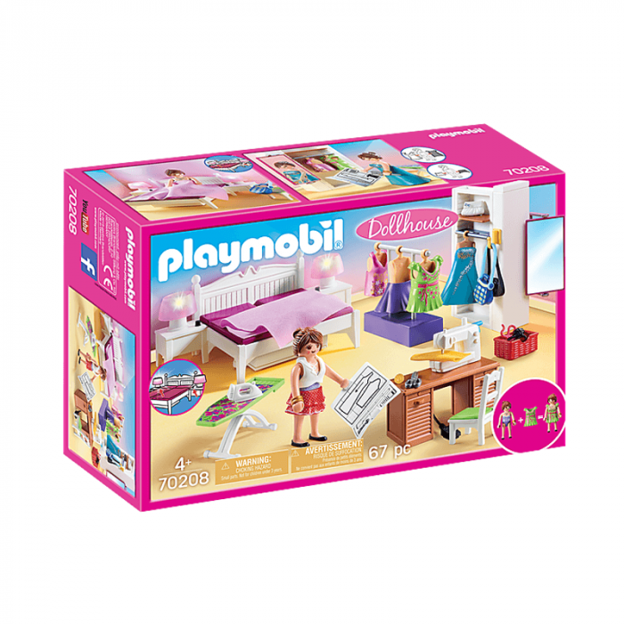 Playmobil Bedroom With Sewing Corner 67 Pcs For Children