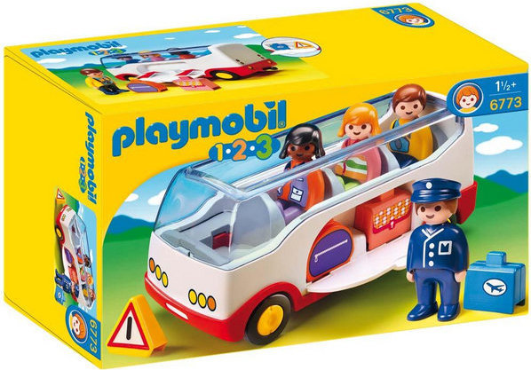 Playmobile 1.2.3 Airport Shuttle Bus