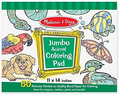 Melissa & Doug Jumbo Coloring Pad (11 x 14 inches) – Animals, 50 Pictures