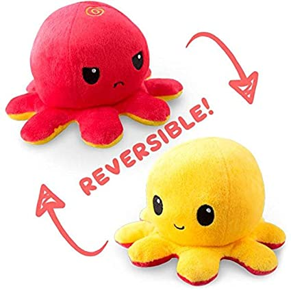 Reversible Octopus Toy   Color and Expressions May Vary