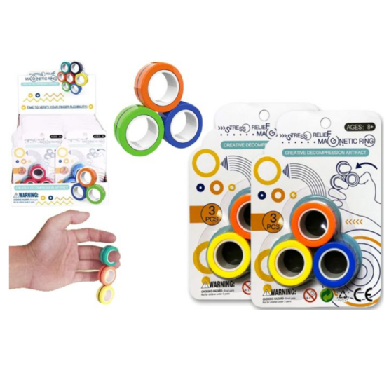 Stress Relief magnetic rings fidget toy