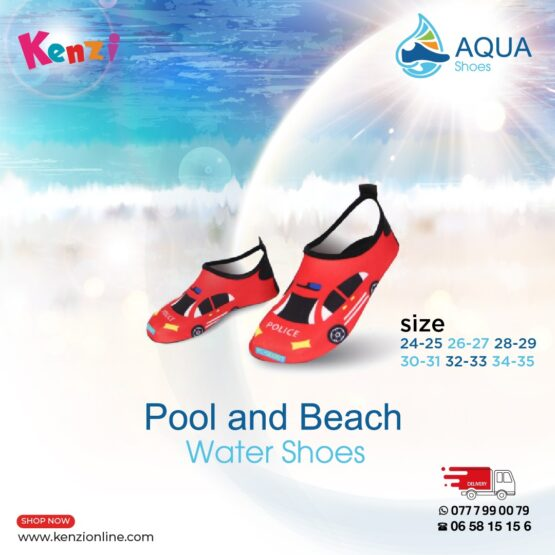 Aqua Shoes   Red Racing Car   Different Sizes