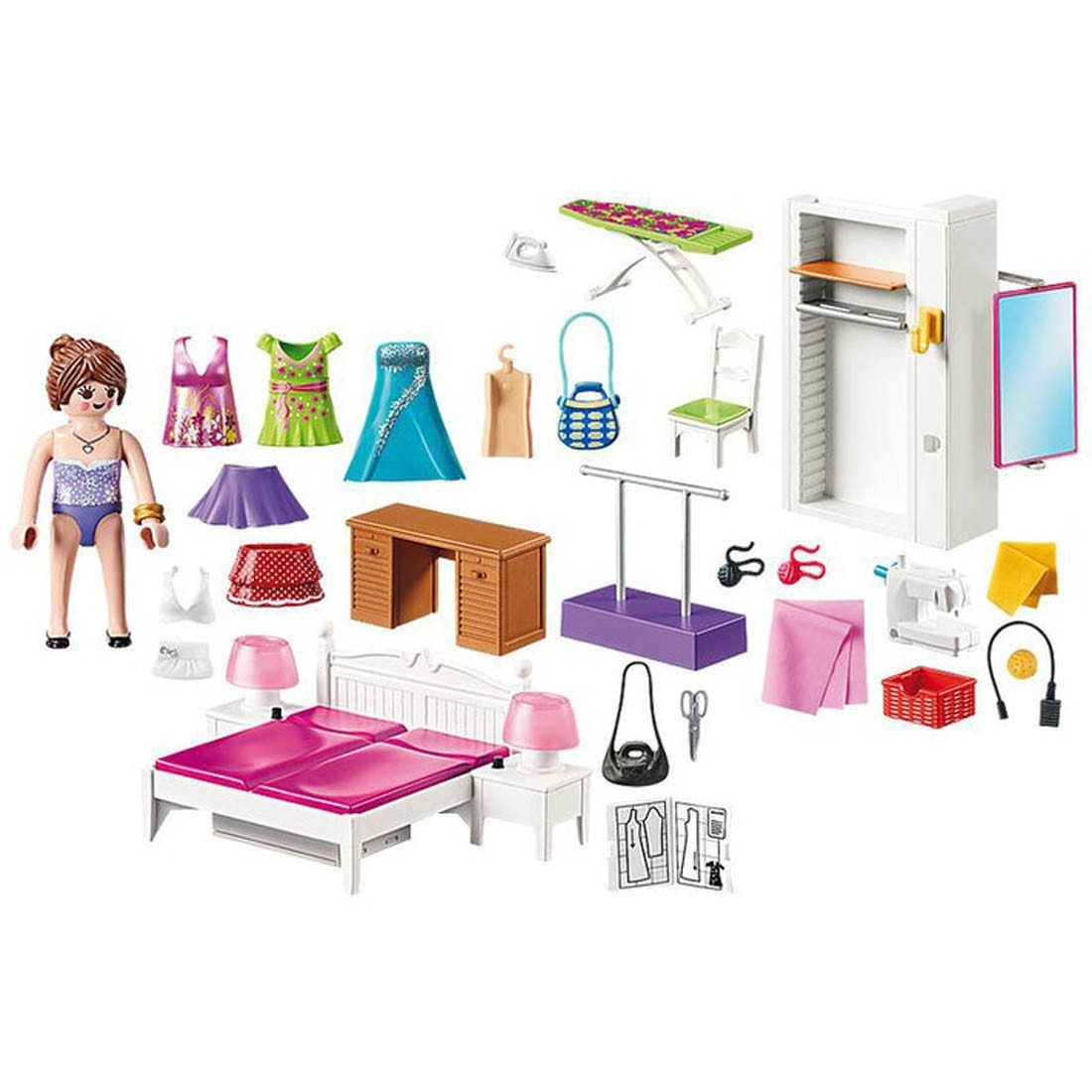 playmobil-bedroom-with-sewing-corner