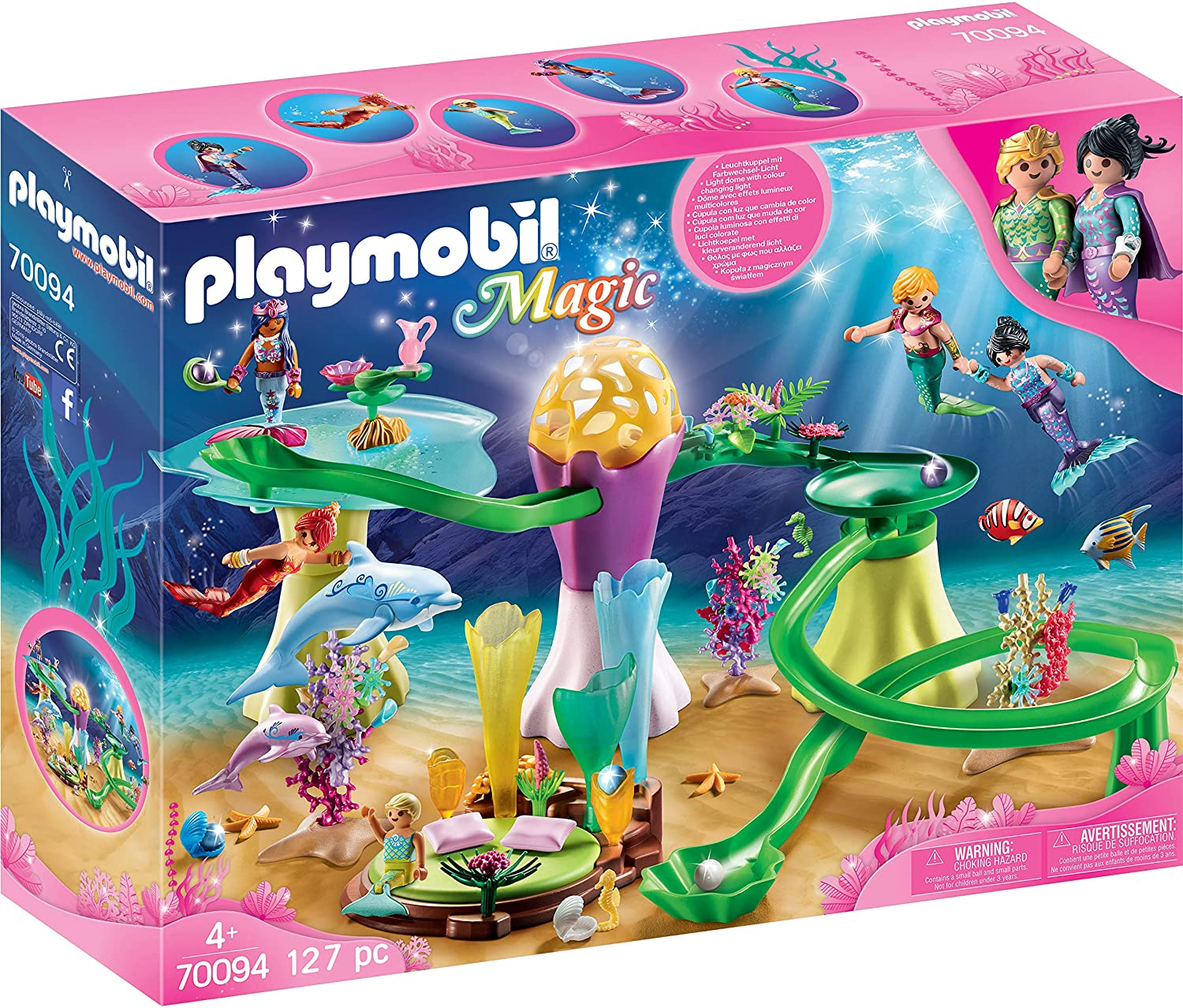 Playmobil Mermaid Cove With Illuminated Dome 127 Pcs For Children