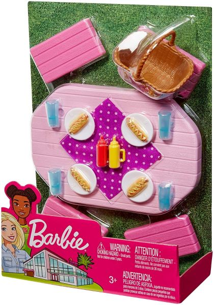 Barbie Outdoor Furniture, Pink Picnic Table